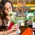 chinese · vrouw · wachten · restaurant · datum · nerveus - stockfoto © kzenon
