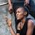 pensativo · africano · americano · moço · pensando · cara · preto - foto stock © kzenon