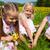 gyerekek · húsvéti · tojásvadászat · tojások · legelő · tavasz · húsvét - stock fotó © kzenon