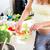 беременная · женщина · приготовления · Салат · красивой · кухне · домой - Сток-фото © kzenon
