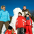 sneeuwpop · paar · illustratie · familie · sneeuw · winter - stockfoto © kzenon