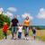 family walking down that summer path stock photo © kzenon