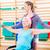 idős · nő · kerék · szék · fizioterápia · edző - stock fotó © kzenon