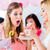expecting mother eating cupcake on baby shower party stock photo © kzenon
