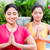 twee · vrouwen · lotus · positie · yoga · praktijk · twee - stockfoto © kzenon