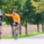 wyścigi · rowerzystów · sportu · high · five · fitness · treningu - zdjęcia stock © kzenon