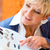 süket · nő · teszt · idősebb · női · nyugdíjas - stock fotó © kzenon