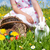 Easter · Bunny · weide · mand · eieren · wonen · voorjaar - stockfoto © kzenon