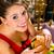 young woman in fine restaurant she eats a burger stock photo © kzenon