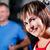 máquina · mujer · entrenamiento · gimnasio · cable · ejercicio - foto stock © kzenon