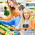 család · termékek · pár · kettő · gyerekek · vásárlás - stock fotó © kzenon