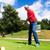 спортсмен · играет · гольф · области · спорт · зеленый - Сток-фото © kzenon