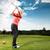 giovani · golf · swing · femminile · donna - foto d'archivio © Kzenon