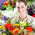 feliz · mujer · florista · de · trabajo · cute - foto stock © kzenon