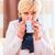 senior · drinken · thee · genezen · griep · oude · vrouw - stockfoto © kzenon