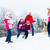 bambini · palla · di · neve · lotta · ragazzi · divertimento · adolescente - foto d'archivio © kzenon