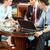 asian · zakenlieden · vergadering · hotel · lobby · vier - stockfoto © kzenon
