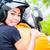 asian couple riding motorcycle stock photo © kzenon