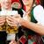 gafas · cerveza · jardín · primer · plano · cinco · mujer - foto stock © kzenon