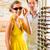 oculista · óculos · mulher · jovem · olhando · óculos · de · sol - foto stock © kzenon