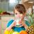 gyermek · iszik · tej · stock · kép · női - stock fotó © kzenon