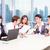mixto · Asia · caucásico · equipo · de · negocios · reunión · terraza - foto stock © kzenon