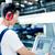 ワーカー · データ · マシン · 工場 · 階 · 生産 - ストックフォト © kzenon
