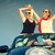 two women in convertible car enjoying car trip stock photo © kzenon