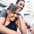 hartelijk · jonge · afro-amerikaanse · paar · gelukkig · romantische - stockfoto © kzenon