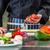 シェフ · タマネギ · キッチン · 手 · 白 - ストックフォト © kzenon