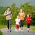 familie · weekend · buitenshuis · drie · vergadering · fietsen - stockfoto © kzenon