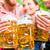 vrienden · bier · tuin · bril · vijf - stockfoto © kzenon