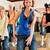 zumba · młodych · ludzi · taniec · studio · siłowni · sportowe - zdjęcia stock © kzenon