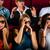 grup · insanlar · izlerken · 3D · film · tiyatro · gençler - stok fotoğraf © Kzenon