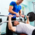 men in sport gym training with barbell for fitness stock photo © kzenon