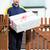 郵便配達員 · 現在 · 家 · 男 · ボックス · サービス - ストックフォト © kzenon