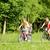 aile · iki · çocuklar · binicilik · bisikletler · yaz - stok fotoğraf © kzenon