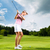 fiatal · női · golfozó · golf · hinta · nő - stock fotó © kzenon