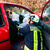 accident   fire brigade rescues victim of a car crash stock photo © kzenon