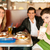 friends in restaurant eating fast food stock photo © kzenon