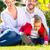 family on the garden lawn stock photo © kzenon