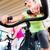 fiets · gymnasium · groep · drie · mensen · vrienden - stockfoto © kzenon