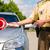 politie · politieagent · politieagent · stoppen · auto · uniform - stockfoto © Kzenon