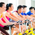 asian people spinning bike training at fitness gym stock photo © kzenon