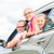 familia · coche · tres · ninos · ninos - foto stock © kzenon
