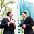 asian · drinken · koffie · buiten · zakenmannen - stockfoto © kzenon