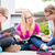 students doing homework for school together stock photo © kzenon