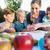 mamma · pittura · immagini · bambini · pausa · pranzo · famiglia - foto d'archivio © kzenon