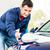 férfi · munkás · autó · közelkép · boldog · takarító - stock fotó © kzenon