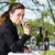 деловая · женщина · обед · ресторан · бизнеса · Изысканные · ужины · улыбка - Сток-фото © Kzenon